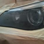 Before Headlight Lens Restoration.